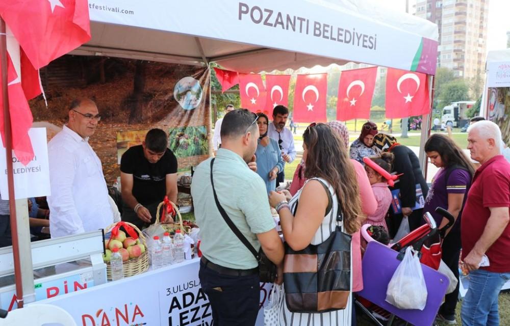 3. ADANA LEZZET FESTİVALİNDE POZANTI BELEDİYESİ STANDINA YOĞUN İLGİ