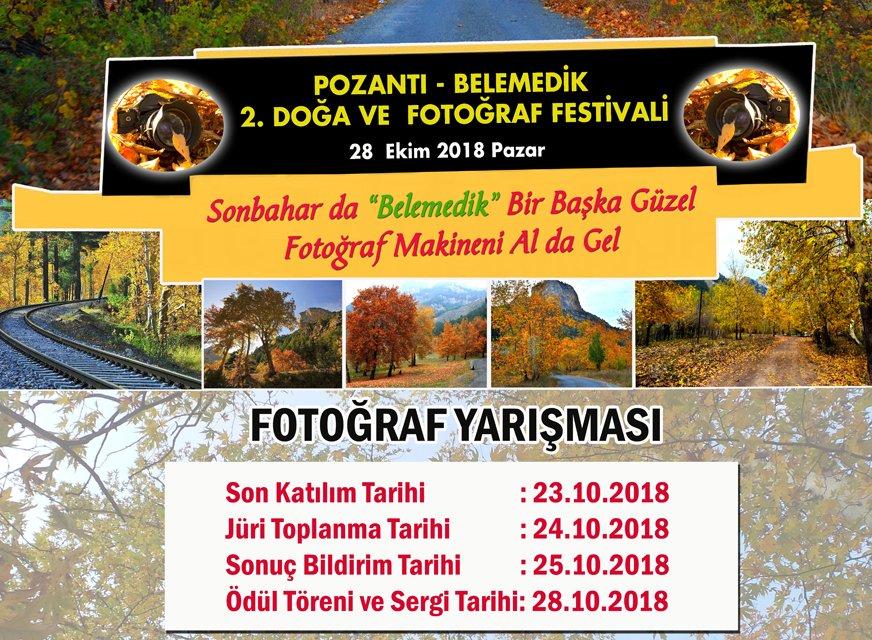 2. BELEMEDİK DOĞA VE FOTOĞRAF FESTİVALİ 28 EKİM'DE..!