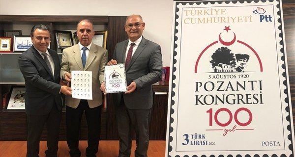 PTT'den 100. Yıl Anısına Pozantı Kongresi Posta Pulu Basacak